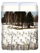 Vineyard In The North Duvet Cover