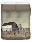 Vineyard In Winter Duvet Cover