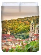 Vineyard Of Prague Duvet Cover