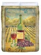 Vineyard Pinot Noir Grapes N Wine - Batik Style Duvet Cover
