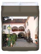 Vineyard Restaurant Duvet Cover