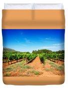 Vineyard Rows Duvet Cover