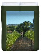 Vineyard Sauvignon Blanc Grapes Duvet Cover