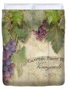 Vineyard Series - Chateau Pinot Noir Vineyards Sign Duvet Cover