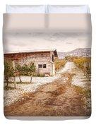 Vineyard Store House Duvet Cover