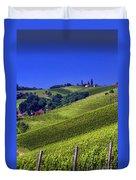 Vineyards Of Jerusalem Slovenia Duvet Cover