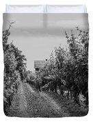 Vineyards Of Old Horizontal Bw Duvet Cover