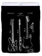 Vintage 1953 Fender Base Patent Duvet Cover