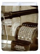 Vintage Adding Machine Duvet Cover
