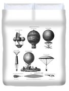 Vintage Aeronautics - Early Balloon Designs Duvet Cover