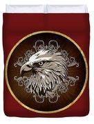 Vintage American Bald Eagle Duvet Cover