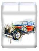 Vintage Automobile Duvet Cover