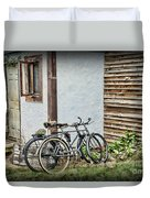 Vintage Bicycles The Journey Duvet Cover