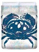 Vintage Blue Crab Duvet Cover