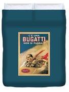 Vintage Bugatti Advert Duvet Cover