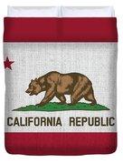 Vintage California Flag Duvet Cover