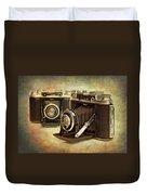 Vintage Cameras Duvet Cover