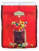 Vintage Candy Store Gum Ball Machine Duvet Cover