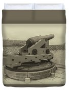 Vintage Cannon At Fort Moultrie Duvet Cover