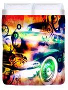 Vintage Car 1 Neons Edition Duvet Cover