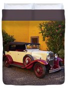 Vintage Car In Funchal, Madeira Duvet Cover