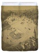 Vintage Central Park Entrance Illusration - 1865 Duvet Cover