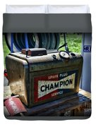 Vintage Champion Spark Plug Cleaner Duvet Cover