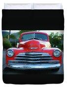 Vintage Chevy Pickup Truck Duvet Cover