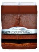 Vintage Chevy Truck Emblem Duvet Cover
