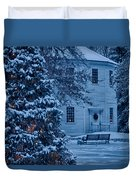Vintage Christmas Church In Vermont Duvet Cover