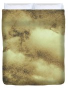 Vintage Cloudy Sky. Old Day Background Duvet Cover