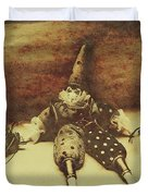 Vintage Clown Doll. Old Parties Duvet Cover