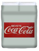 Vintage Coca Cola Sign Duvet Cover
