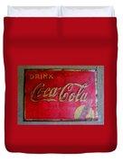 Vintage Coca-cola Sign Duvet Cover