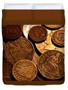 Vintage Coins Duvet Cover