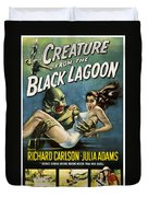 Vintage Creature From The Black Lagoon Poster Duvet Cover