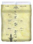 Vintage Croquet Patent Duvet Cover