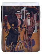 Vintage Cycle Poster March Davis Cycle 100 Dollars Duvet Cover