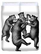 Vintage Dancing Bears Duvet Cover