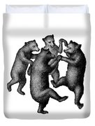 Vintage Dancing Bears Duvet Cover