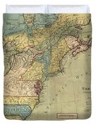 Vintage Discovery Map Of The Americas - 1771 Duvet Cover