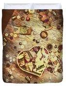 Vintage Dressmakers Table Duvet Cover