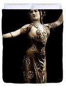 Vintage Exotic Dancer Duvet Cover