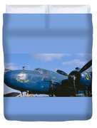 Vintage Fighter Aircraft, Burnet, Texas Duvet Cover