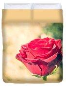 Vintage Film Effect Rose. Duvet Cover