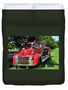 Vintage Fire Truck Duvet Cover