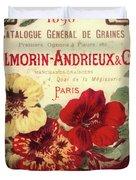 Vintage Flower Seed Cover Paris Rare Duvet Cover