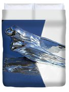 Vintage Flying Lady Hood Ornament Duvet Cover