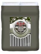 Vintage Ford 600 Nameplate Emblem Duvet Cover