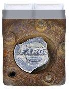 Vintage Fargo Wheel Art Duvet Cover